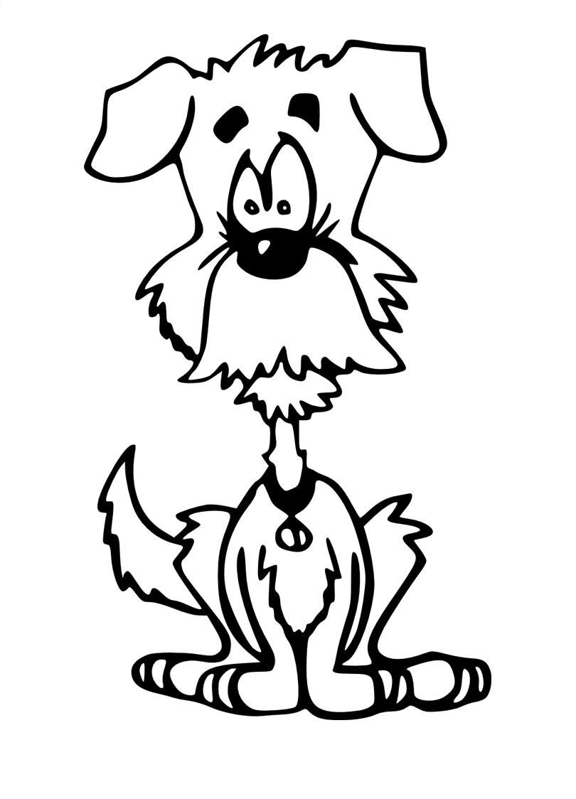 Disegni da colorare per bambini cane for Cane disegno da colorare
