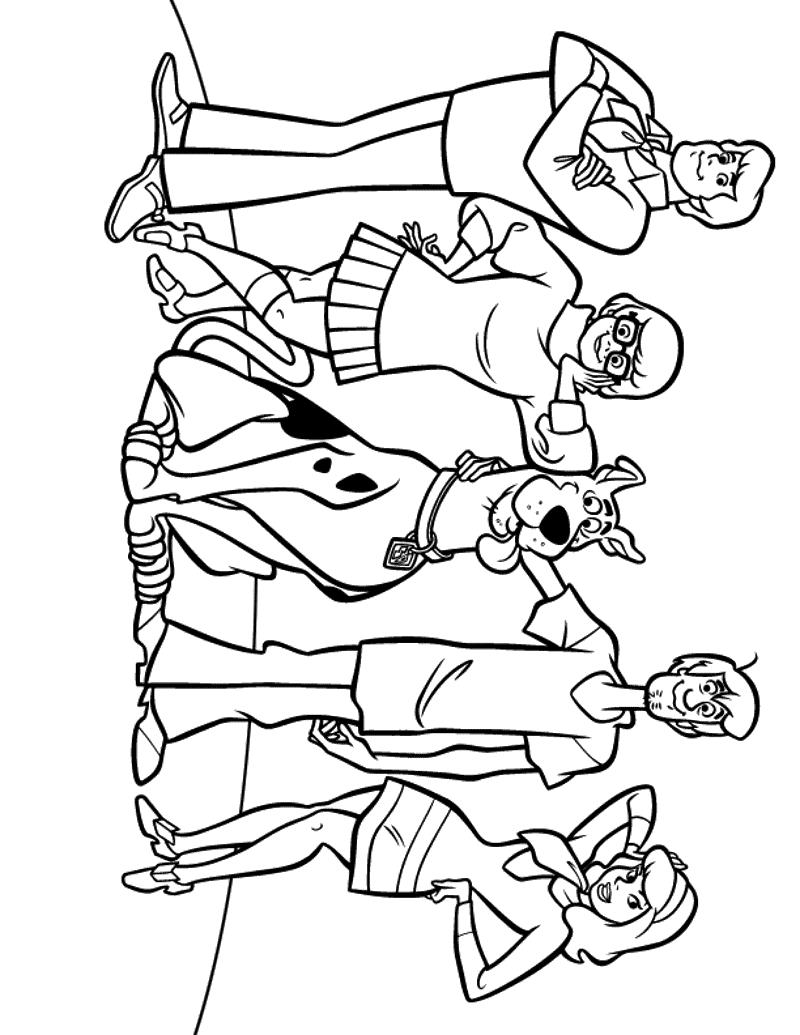 Disegni Da Colorare Per Bambini Scooby Doo Dove Sei Tu