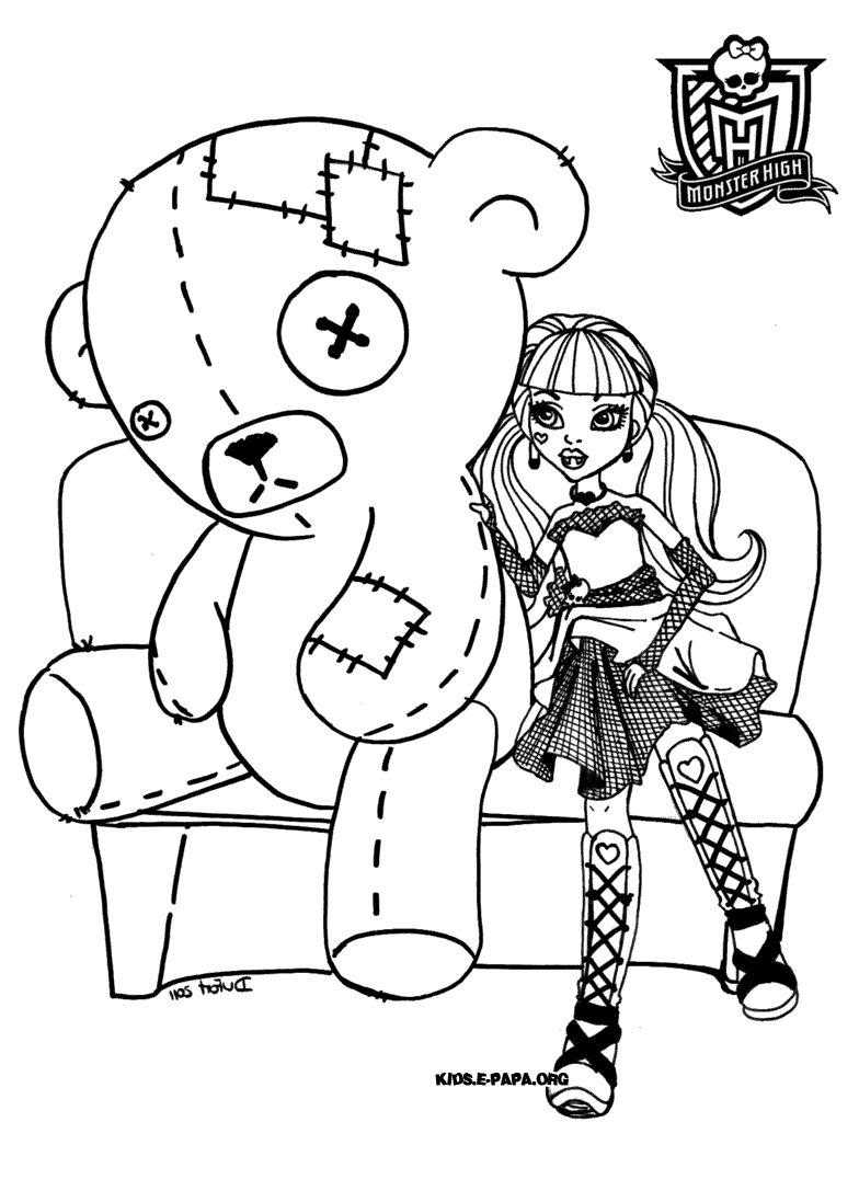 100 Monster High Coloring Pages Of Draculaura Monnter Face
