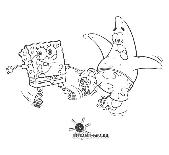 Disegni da colorare per bambini patrick stella e spongebob for Disegni spongebob