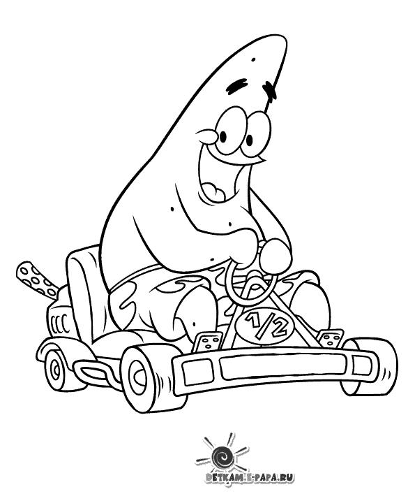 Disegni da colorare per bambini patrick stella for Disegni spongebob